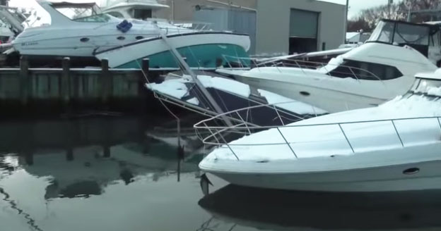 Hurricane Sandy Boat Damage Video