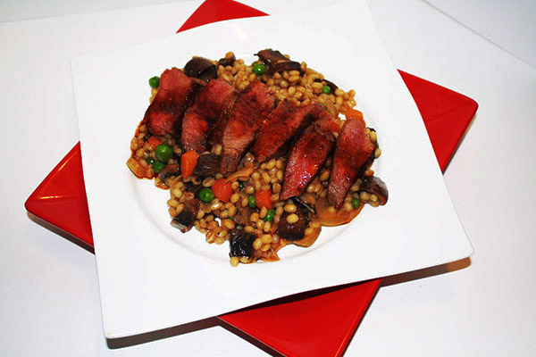 game recipe - Venison Barley Risotto