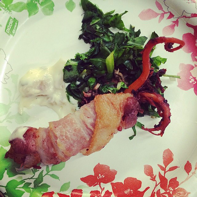 bacon and octopus combo