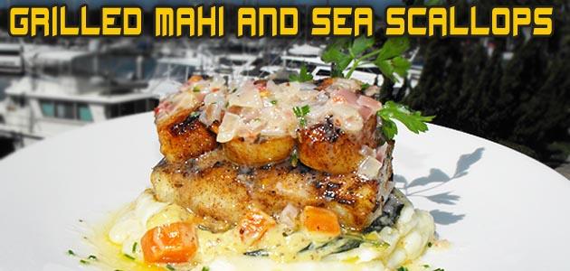 Grilled Mahi & Sea Scallops Recipe