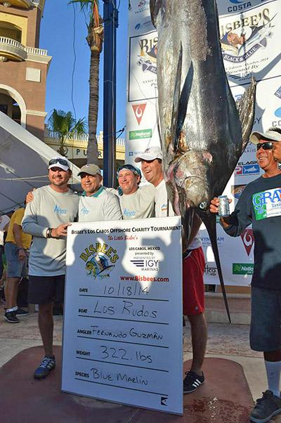 The 322-pounder bilfish in fishing at Los Rudos
