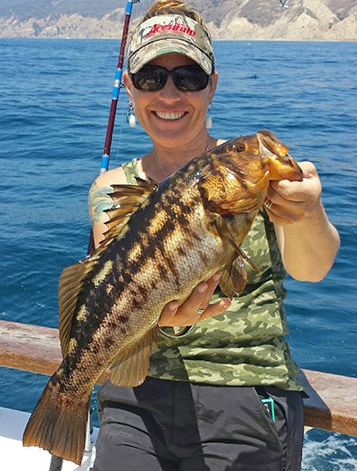 Erika Brandt calico bass fishing