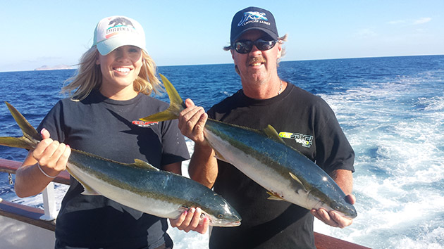 Carolyn Jordan yellowtail fishing
