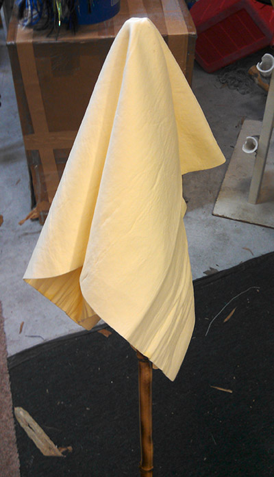 making a mop for chamois