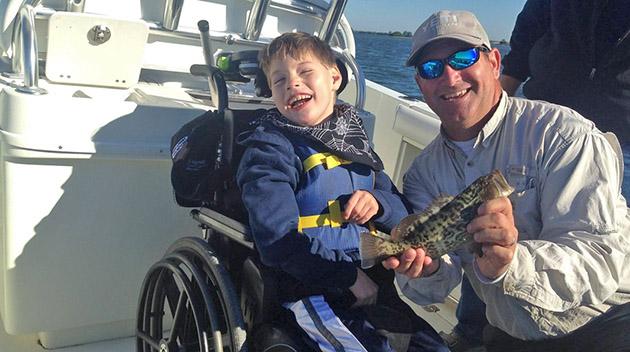 Chasten Whitfield fishing