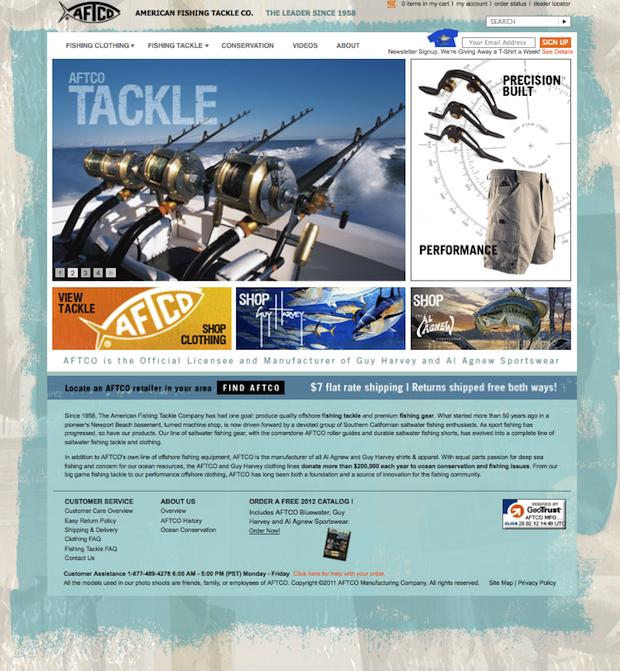 Aftco launches new website for American fishing tackle company
