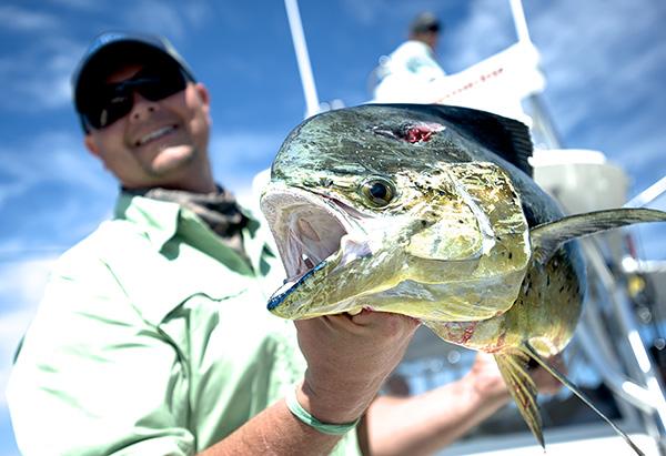 Derek Redwine with Dolphin Fish