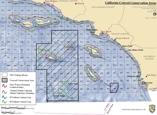 New calif rockfish regulations for California fishing limits