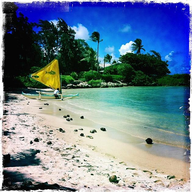 Katie Pere canoe sail