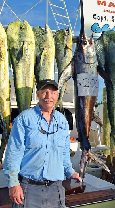 angler catches 200 swordfish