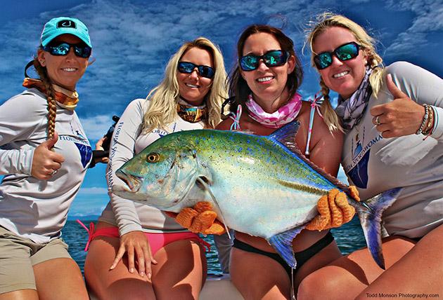 Maureen Mascaro blue trevally fishing