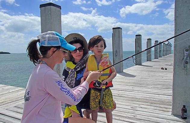 Maureen Mascaro fishing
