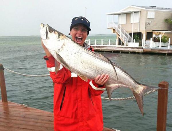 Maureen Mascaro tarpon fishing chick