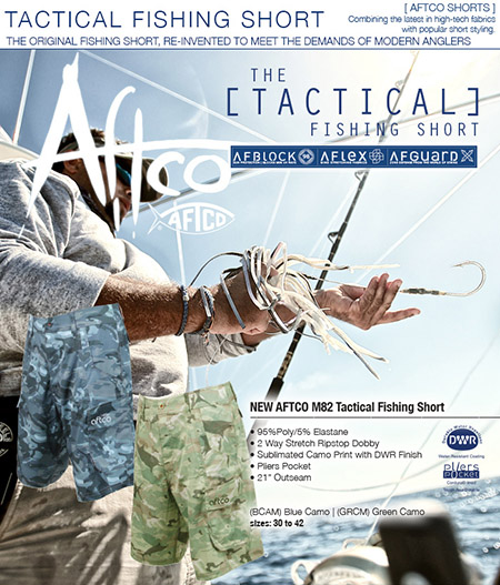 Aftco 39 s new tactical fishing shorts for Fishing companies looking for prostaff