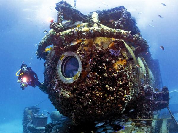 living underwater