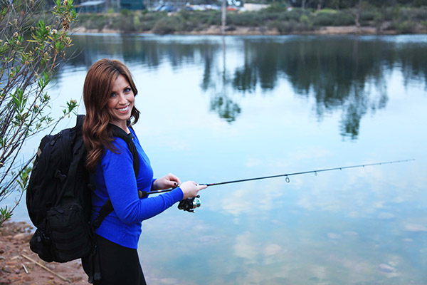 Abbey Wagley fishing chick