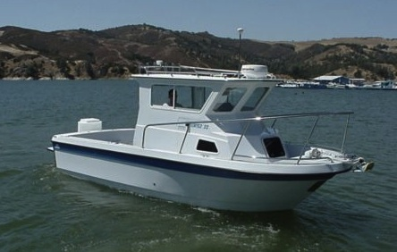 Davidson boats cortez 22 for Best small cabin boats