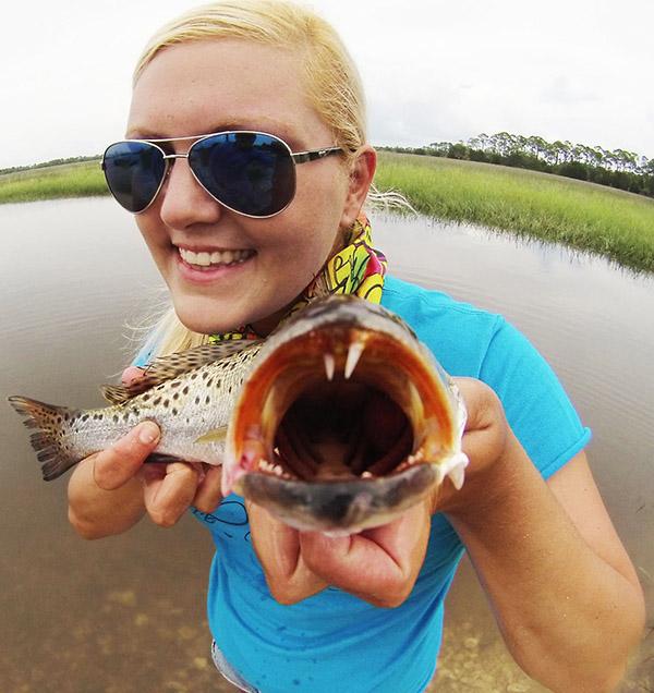 Tabby Abbassi womens fishing
