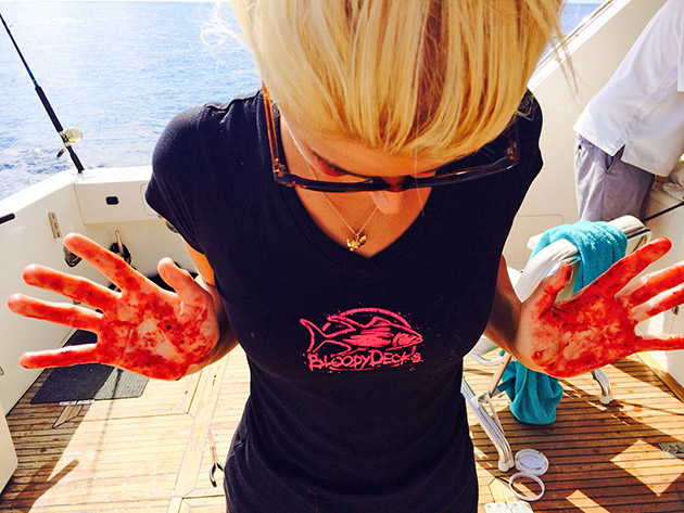 Kristen Petersen Bloodydecks fishin chick