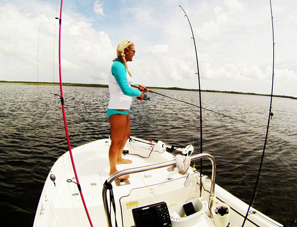 Tabby Abbassi ladies fishing