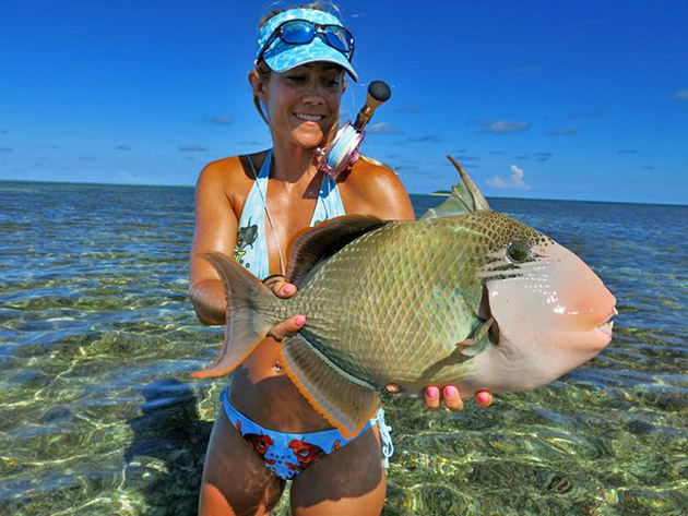 Clare Carter bikini triggerfish