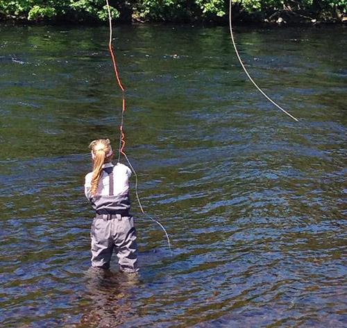 Clare Carter fishing