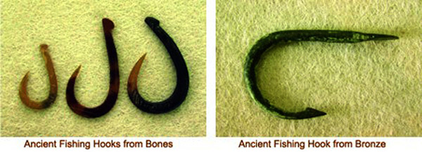 Ancient fishing hooks