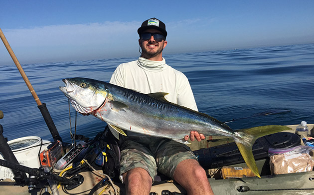 the author with a nice yellowtail