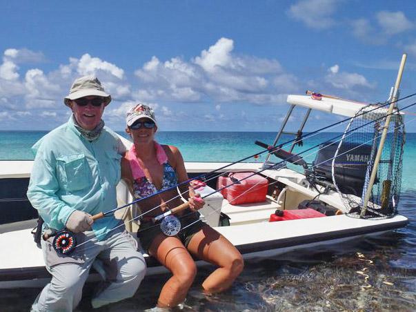 Clare Carter flyfishing