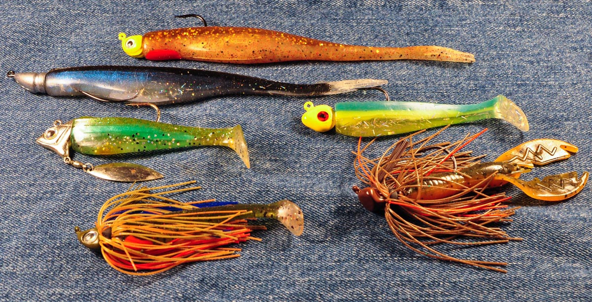 spotted bay bass tackle, Soft Baits