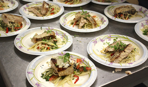 Grilled Yellowtail Green Curry Sauce