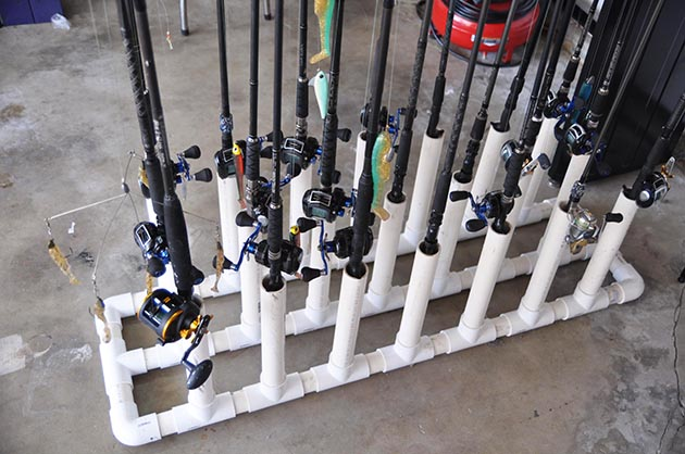 Diy Rod Racks For The Garage