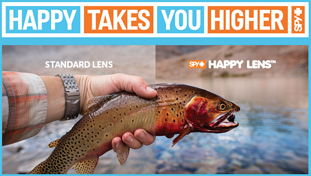 707e69e6c4 The Happy Lens technology is not limited to just fishing. Spy Optics has a  huge selection of frames for everyone and even offers a selection of ski  goggles ...