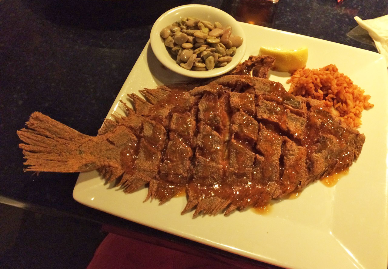 Whole Fried Flounder With Apricot Sauce Bdoutdoors