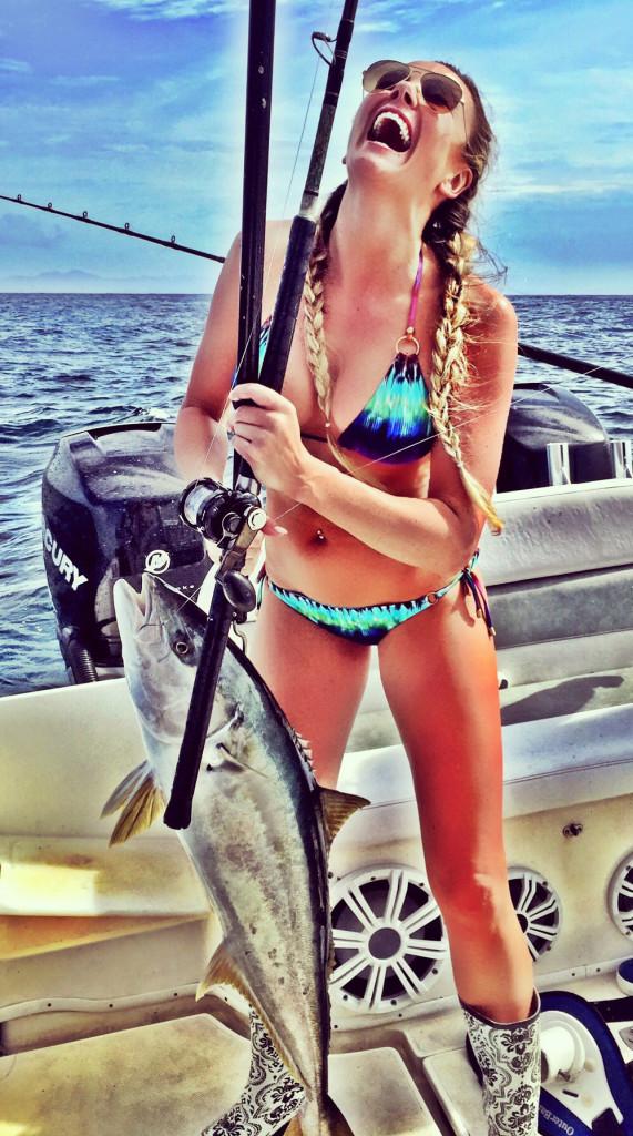 Amber Miller sexy yellowtail - Fishing Chick Amber Miller