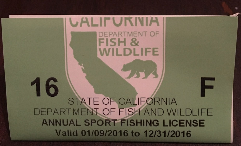 fishing license