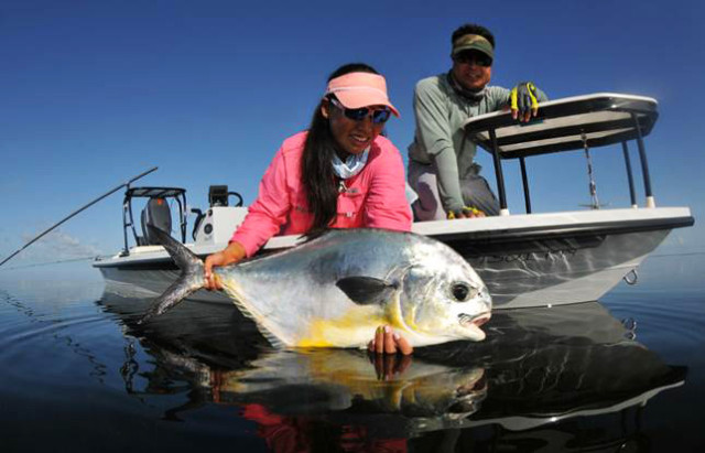 Cindy Nguyen inshore fishing