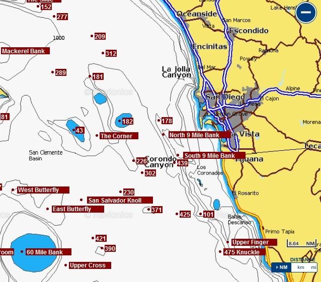 Fishing chart southern california bd outdoors for Best fishing in southern california
