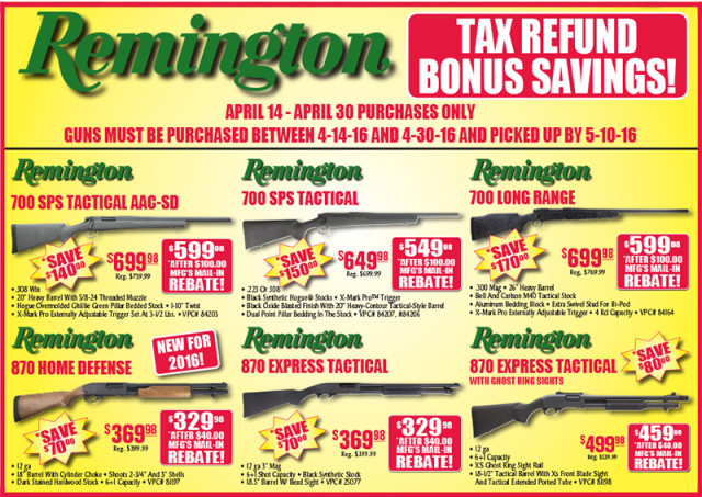 Remington sale