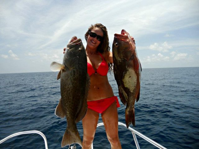 Katey McClenny bottom fishing