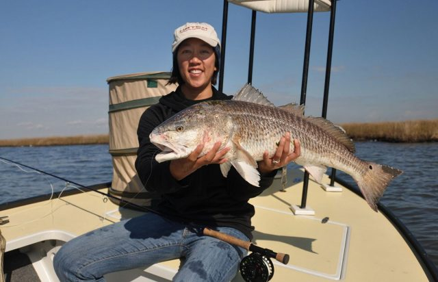 Michelle Bowman ladies fishing redfish