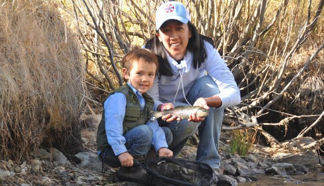 Michelle Bowman trout fishing