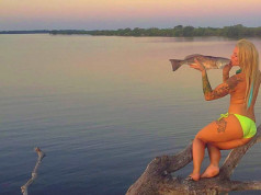 mermaid red fishin chick
