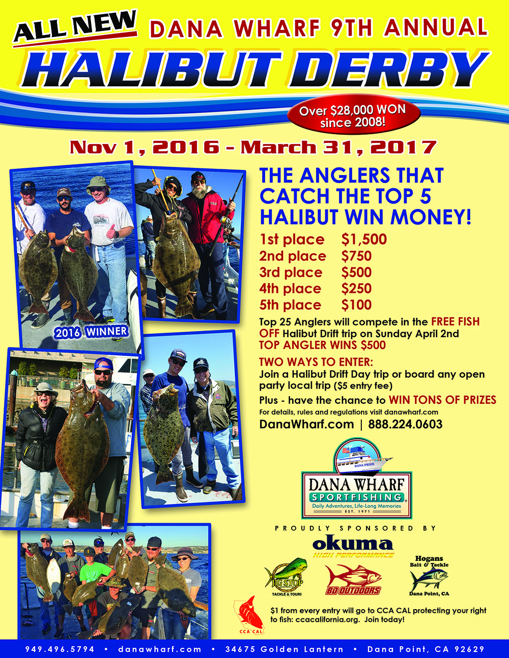 2016 dana wharf halibut derby bd outdoors halibut derby nvjuhfo Image collections