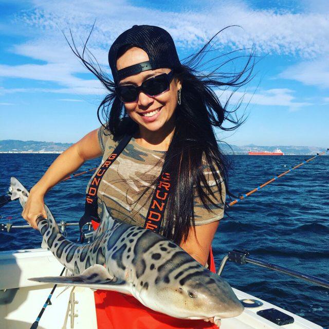 Virginia Salvador shark fishing