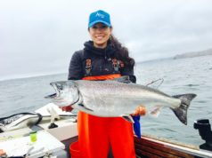 ladies fish West Coast Salmon Season