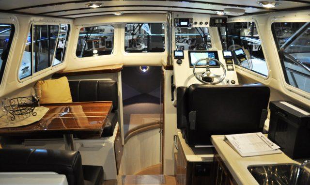 ocean sports boat interior helm