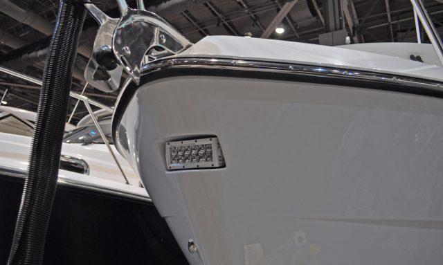 Ocean sports boat lit bow