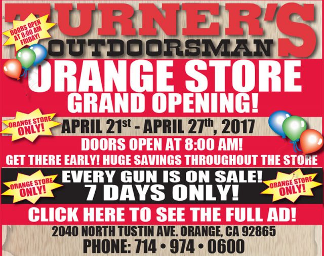 turner's outdoorsman Orange store - Turners Outdoorsmans Grand Opening