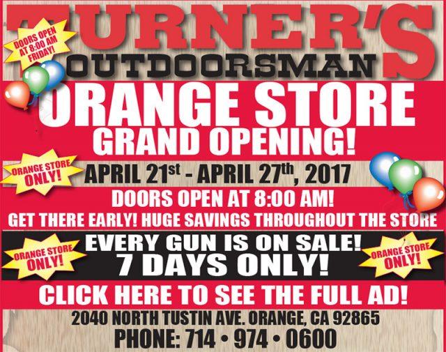 turner's outdoorsman Orange store